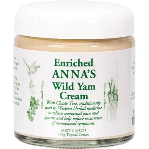 Wild Yam Cream for Menstrual & Menopausal Symptoms - Anna's
