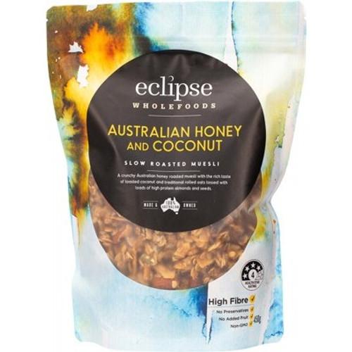 Muesli Australian Honey and Coconut Slow Roasted Organic 450g - Eclipse Organics