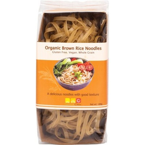 Brown Rice Noodles Flat Organic 180g - Nutritionist Choice