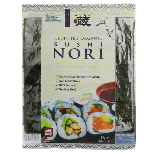 Sushi Nori Roasted Organic 10 Sheets 28g - Chefs Choice