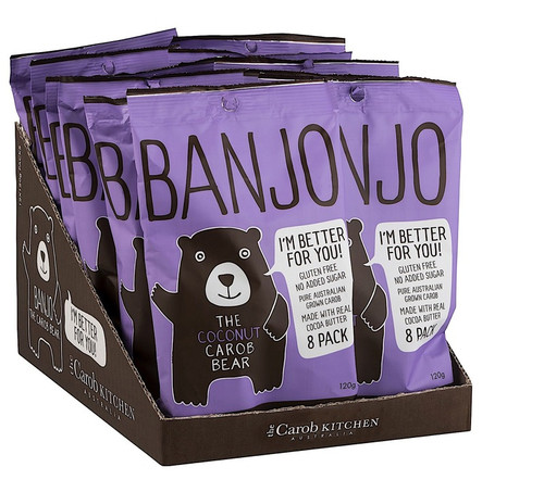 Carob Banjo Bear Coconut Multi Pack 8 x 15g - The Carob Kitchen