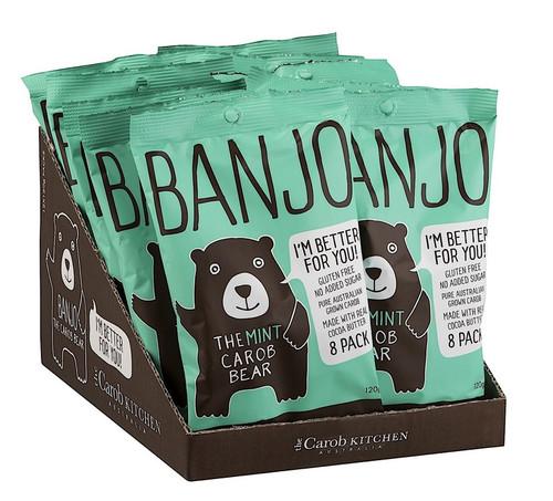 Carob Banjo Bear Mint Multi Pack 8 x 15g - The Carob Kitchen