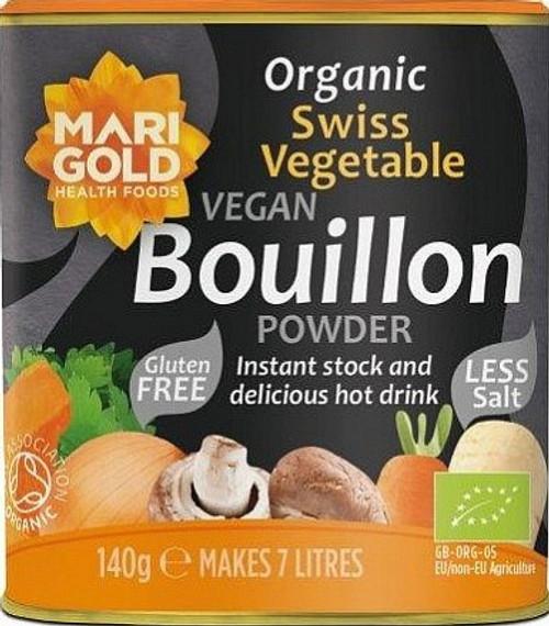 VeganSwiss Bouillon Powder low salt (grey tin) 1540g - Marigold Health