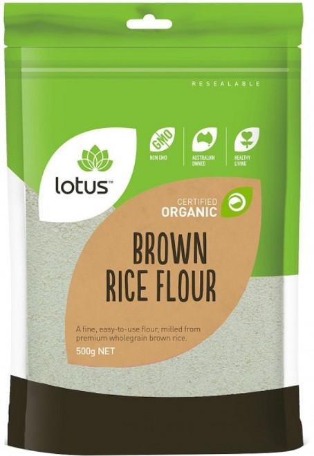 Rice Flour Brown Organic Biodynaic 500g - Lotus