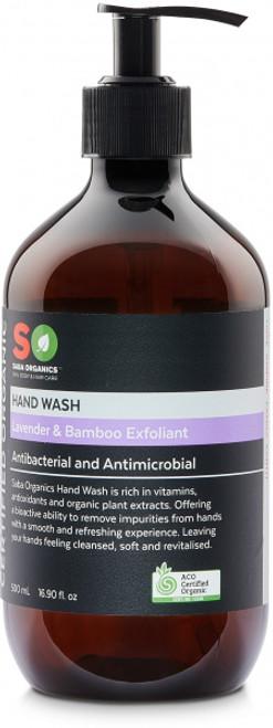 Hand Wash Lavender & Bamboo Exfoliant Organic 500ml - Saba Organics