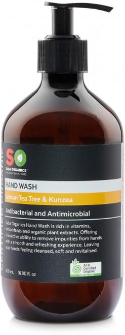 Hand Wash Lemon Tea Tree & Kunzea Organic 500ml - Saba Organics