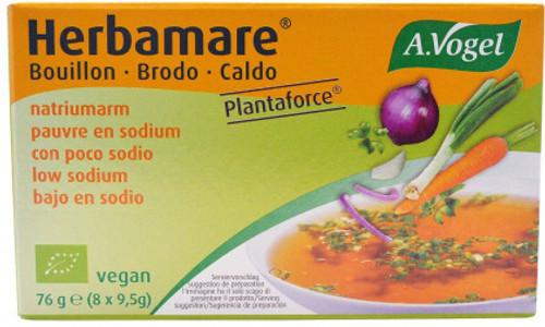 Bouillon Stock Cube Low Sodium Herbamare Organic 76g - A Vogel