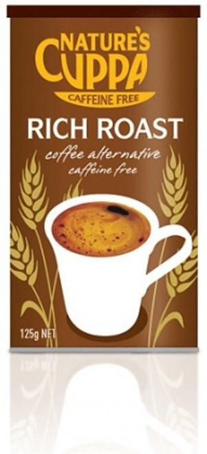 Coffee Alternative Caffeine Free Powder Rich Roast 125gm - Natures Cuppa