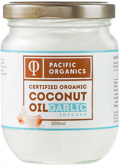 Coconut Oil Garlic Infused Organic 200ml - Pacific Organics