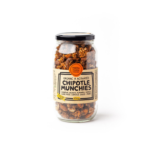 Chipotle Munchies Activated Raw Organic 400g Jar - Mindful Foods