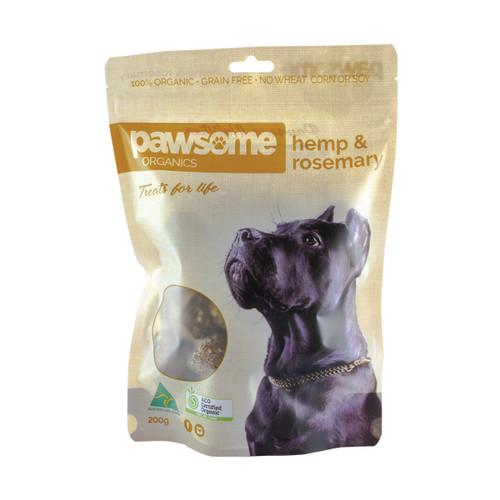 Pet Treats Hemp & Rosemary 200g- Pawsome Organics