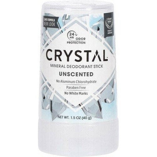 Unscented Mineral Deodorant Stick 40g - Crystal