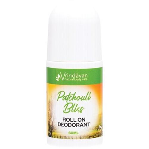 Patchouli Bliss Deodorant Roll On Organic 50ml  - Vrindavan
