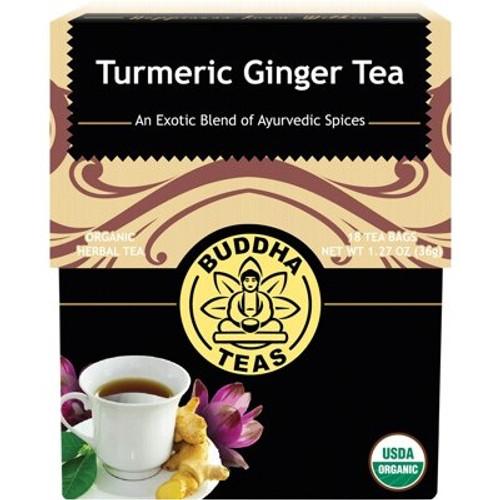 Turmeric Ginger Tea Organic 18 Bags - Buddha Teas