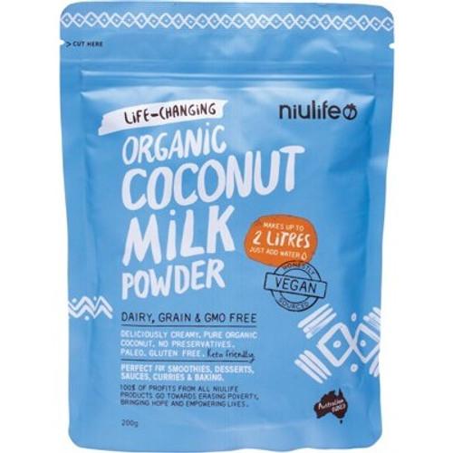 Coconut Milk Powder Organic 200g - Niulife