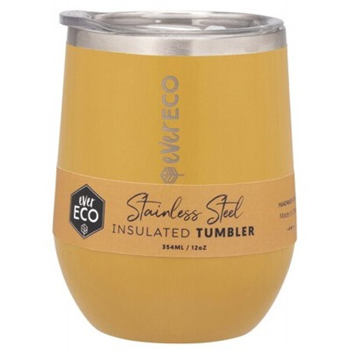 Cup/Tumbler Insulated Stainless Steel Marigold 354ml/12oz - Ever Eco