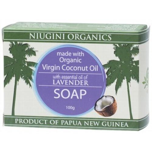 Lavender Virgin Coconut Oil Soap Bar - Niugini Organics