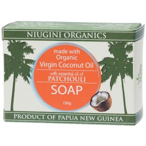Patchouli Virgin Coconut Oil Soap Bar- Niugini Organics