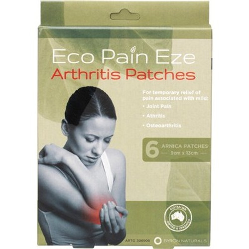 Arnica Patches Arthritis Eco Pain x 6 - Byron Naturals