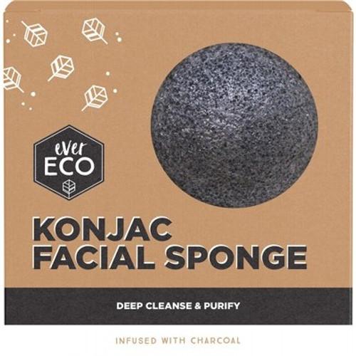 Facial Sponge Konjac Charcoal - Ever Eco