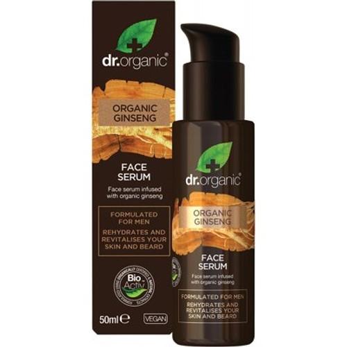 Men's Face Serum Organic Ginseng 50ml - Dr Organic
