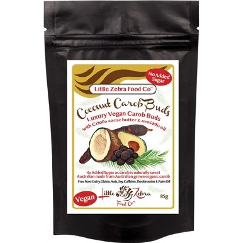Carob Buds Coconut 85g - Little Zebra Food Co