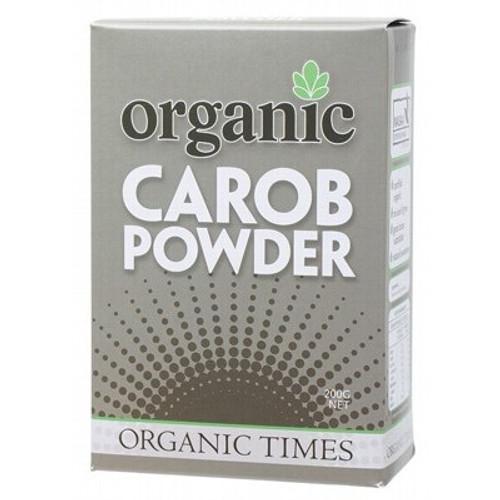 Carob Powder Toasted Organic 200g - Organic Times