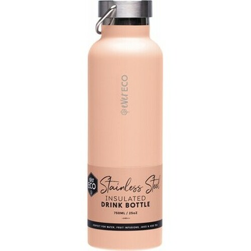 Bottle Insulated Stainless Steel Peach 750ml - Ever Eco