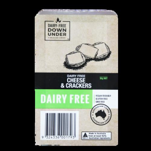 Cheese & Crackers Snack Pack Dairy Free Vegan Cheese 30g - Dairy Free Down Under