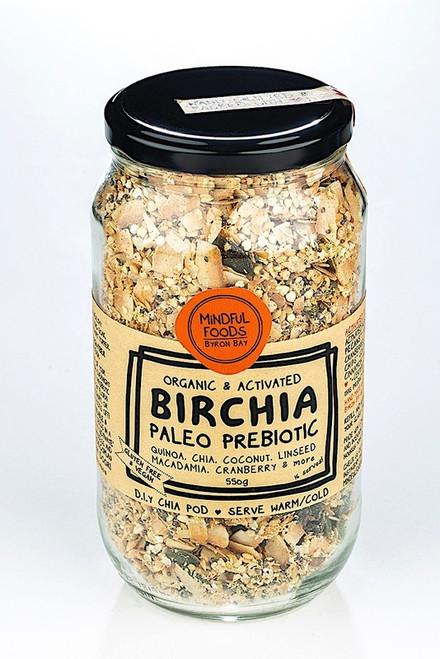 Birchia Paleo Prebiotic Muesli Activated Raw Organic 550g Jar- Mindful Foods