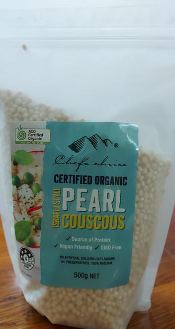 Couscous Israeli Pearl Organic 500g - Chefs Choice