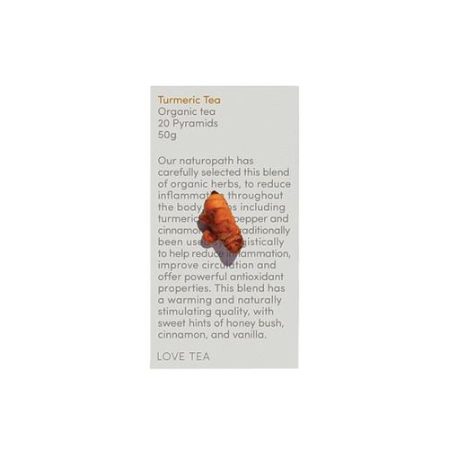 Turmeric Tea Organic 20 Pyramid Bags - Love Tea