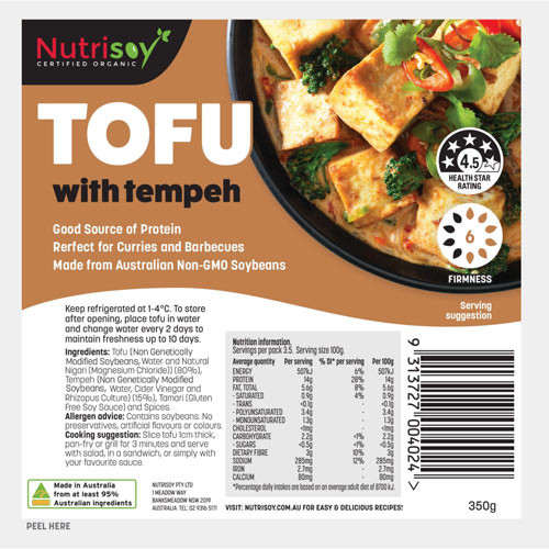 Tofu with Tempeh 350g - Nutrisoy