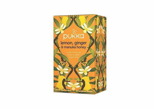 Lemon, Ginger & Manuka Honey Organic Tea 20 Bags - Pukka