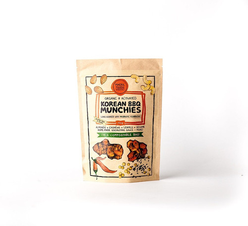 Korean BBQ Munchies Activated Raw Organic 150g Bag - Mindful Foods