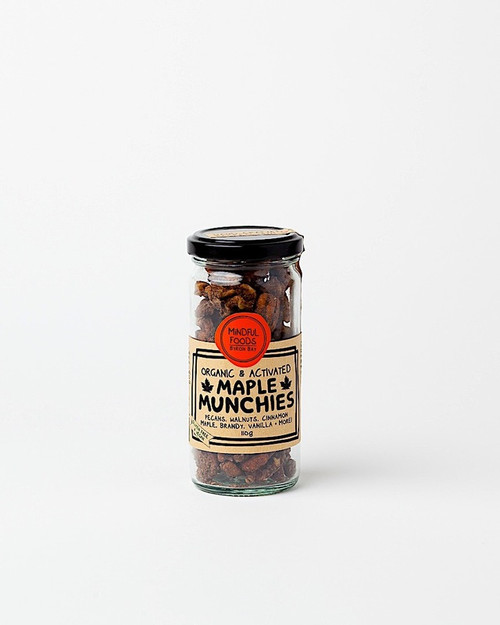 Maple Munchies Activated Raw Organic 110g Jar - Mindful Foods
