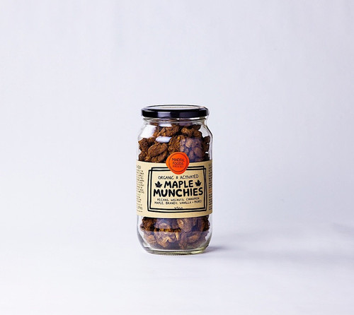 Maple Munchies Activated Raw Organic 450g Jar - Mindful Foods