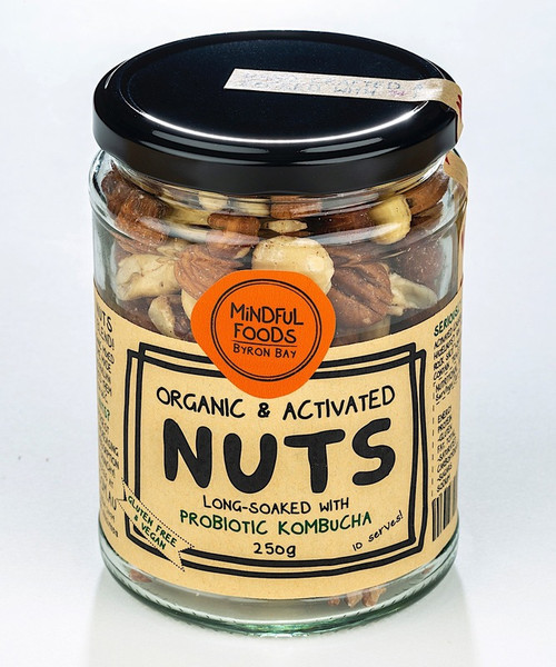 Mixed Nuts Raw Activated Organic 250g Jar - Mindful Foods