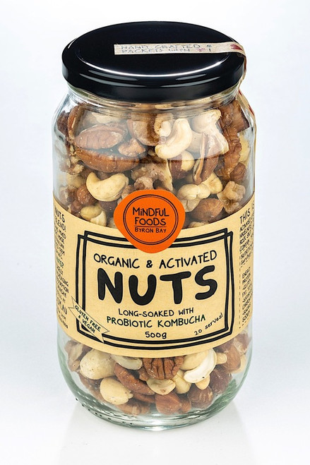 Mixed Nuts Raw Activated Organic 500g Jar - Mindful Foods