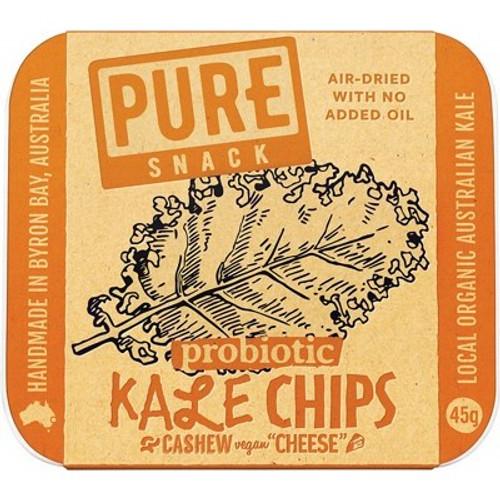Chips Pure Kale Cashew Cheese Vegan Organic 45g - Extraordinary Foods