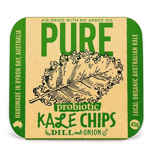 Chips Pure Kale Dill & Onion Vegan Organic 45g - Extraordinary Foods