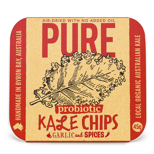 Chips Pure Kale Garlic & Spices Vegan Organic 45g - Extraordinary Foods