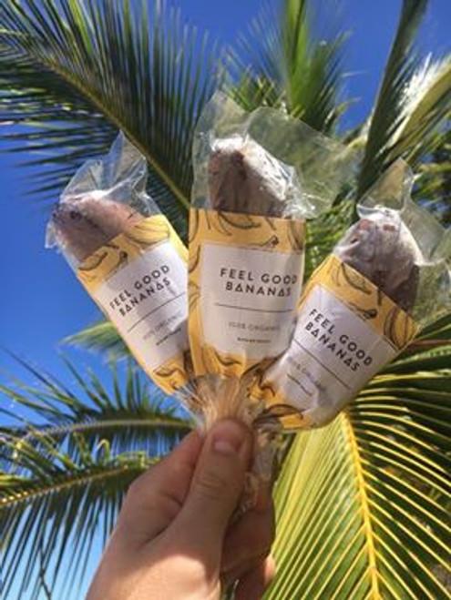 Choc coated Banana Frozen Organic - Feel Good Bananas