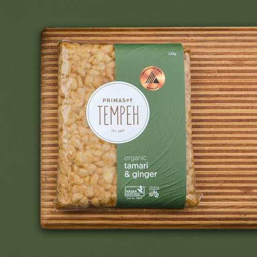 Tempeh Tamari Ginger Organic (May be Frozen) - Primasoy