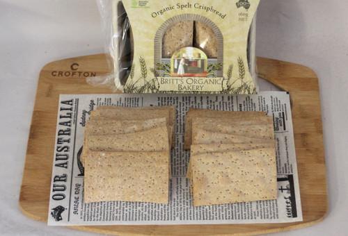 Spelt Plain Crispbread Organic 160g - Britts Organic