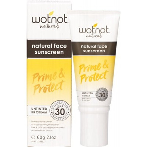 Natural Face Sunscreen SPF30+ Untinted BB Cream 60g - Wotnot