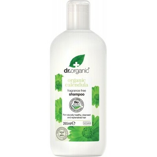 Calendula Fragrance Free Shampoo Organic 265ml - Dr Organic