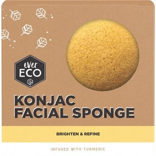 Facial Sponge Konjac Turmeric - Ever Eco
