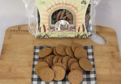 Spelt Ginger Cookies Organic 200g - Britts Organic