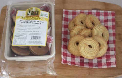 Vanilla Bourbon Shortbread Cookies Organic 200g - Britts Organic